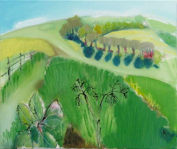 Hanging Grimston. Oil & Ink on Canvas.