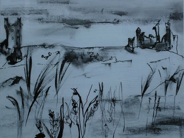 Northumberland Ink Drawing