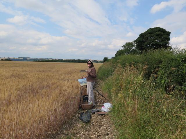 Painting Barley & Sky 2018