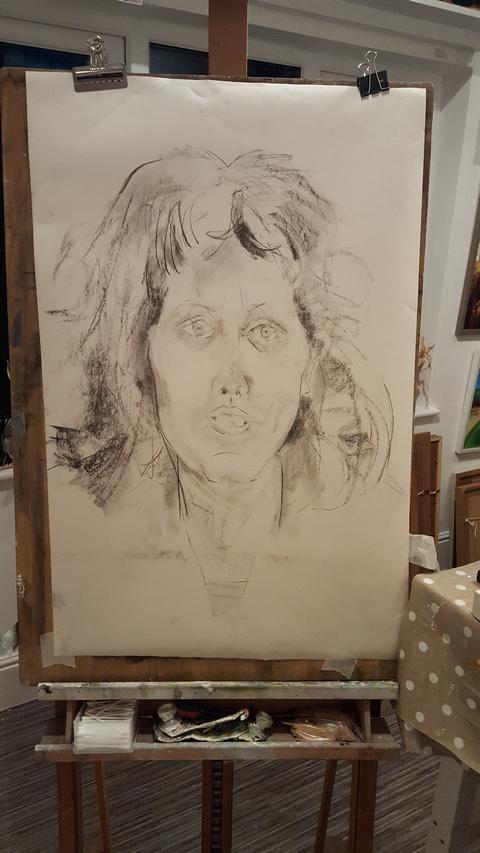 Prelim drawings for Jayne's portrait