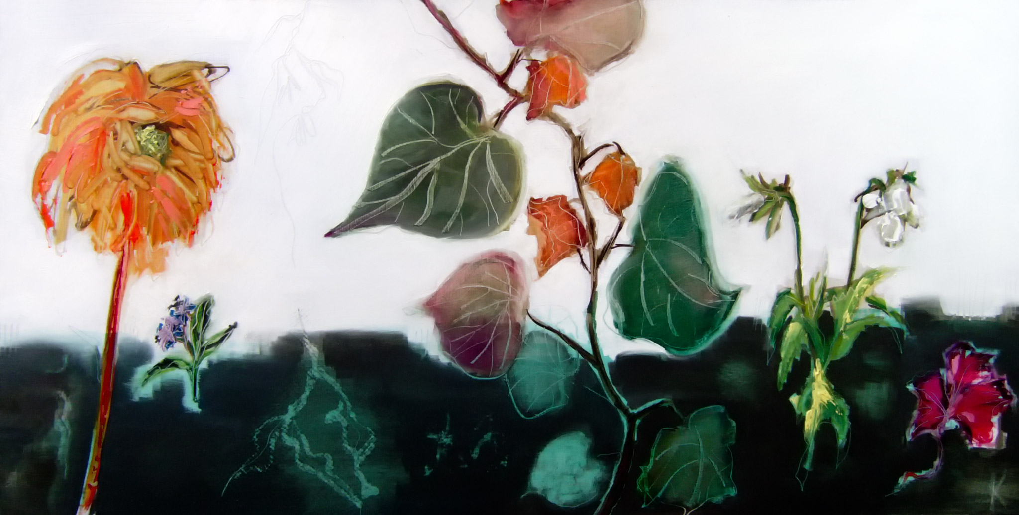 Nature Morte with Dahlia. Selected. Society of Women Artists.